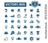 victory  win icons  | Shutterstock .eps vector #391555504