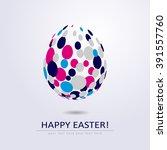 stylized egg shape isolated on... | Shutterstock .eps vector #391557760