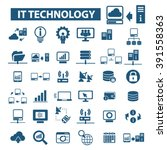 it technology icons  | Shutterstock .eps vector #391558363