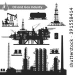 Set Of Oil And Gas Industry...
