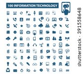 information technology icons  | Shutterstock .eps vector #391558648