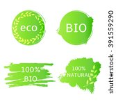 bio  eco  natural labels  shapes | Shutterstock .eps vector #391559290