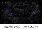 starry night sky space vector...   Shutterstock .eps vector #391565224