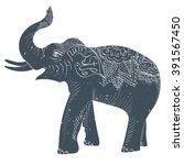 vector illustration. elephant...   Shutterstock .eps vector #391567450
