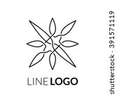 line art vector logo icon... | Shutterstock .eps vector #391571119