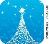 abstract christmas tree | Shutterstock .eps vector #39157438