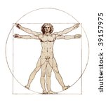 da vinci's vitruvian man | Shutterstock . vector #39157975