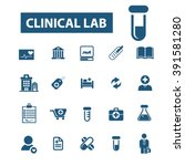 clinical lab icons  | Shutterstock .eps vector #391581280