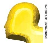 silhouette of a yellow golden... | Shutterstock .eps vector #391581898