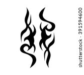 tattoo tribal vector design.... | Shutterstock .eps vector #391594600