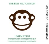 monkey vector icon. chinese... | Shutterstock .eps vector #391598434