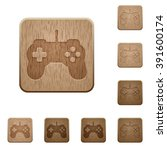 set of carved wooden game...