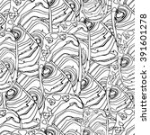 seamless pattern with chaotic... | Shutterstock .eps vector #391601278