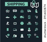 shipping icons  | Shutterstock .eps vector #391602874
