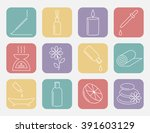 essential oil line icon.... | Shutterstock .eps vector #391603129