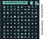 hospital clinic icons  | Shutterstock .eps vector #391603759