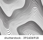 optical art background wave... | Shutterstock . vector #391606918