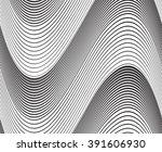 optical art background wave...   Shutterstock . vector #391606930