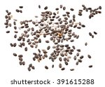chia seeds  top view  isolated... | Shutterstock . vector #391615288