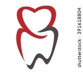 dental logo | Shutterstock .eps vector #391618804