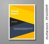 vector design leaflet brochure  ...   Shutterstock .eps vector #391620049