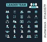 leader team icons  | Shutterstock .eps vector #391623379