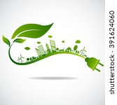 ecology concept. save world | Shutterstock .eps vector #391624060