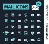 mail icons  | Shutterstock .eps vector #391629238