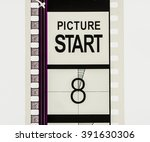 film strip countdown section on ... | Shutterstock . vector #391630306