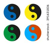 yin yang  multicolored set icon ... | Shutterstock .eps vector #391631836