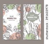 set of 2 labels for eucalyptus...   Shutterstock .eps vector #391633978