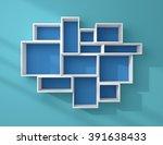 3d rendered composition of... | Shutterstock . vector #391638433