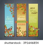 vector set of vertical spring...   Shutterstock .eps vector #391646854