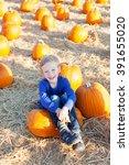 Beautiful Boy Enjoying Autumn...