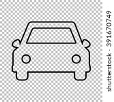 car line vector icon on... | Shutterstock .eps vector #391670749