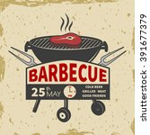 barbecue invitation card on the ...   Shutterstock .eps vector #391677379