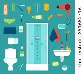 vector illustration of hygiene... | Shutterstock .eps vector #391685716