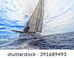 sailboat  sailing | Shutterstock . vector #391689493