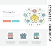 flat line business concept web... | Shutterstock .eps vector #391693123