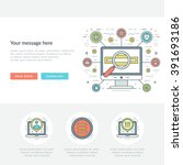 flat line business concept web... | Shutterstock .eps vector #391693186