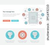 flat line business concept web... | Shutterstock .eps vector #391693210