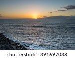 Sunset On Atlantic Ocean ...