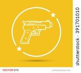 gun doodle | Shutterstock .eps vector #391701010