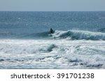 a surfer at scottburgh beach  ...   Shutterstock . vector #391701238