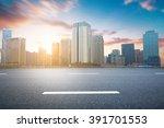 empty urban road and buildings   Shutterstock . vector #391701553