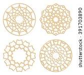 diy laser cutting patterns.... | Shutterstock .eps vector #391703890
