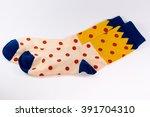 polka dot sock | Shutterstock . vector #391704310