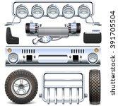 vector off road car spares | Shutterstock .eps vector #391705504