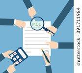 memorandum of understanding mou   Shutterstock .eps vector #391711984