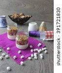 homemade granola healthy... | Shutterstock . vector #391721830